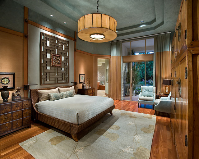 Luxurious zen resort paradise valley asian bedroom for Small living room zen design