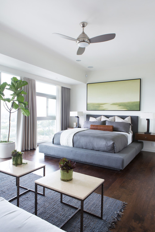 contemporary bedroom Ceiling Fans in the Bedroom. Are you a Fan?