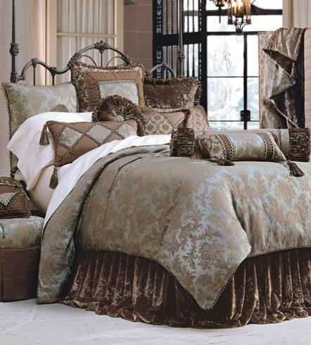 . Luxury Bedding Ensemble   Custom Decorative Pillows   Traditional