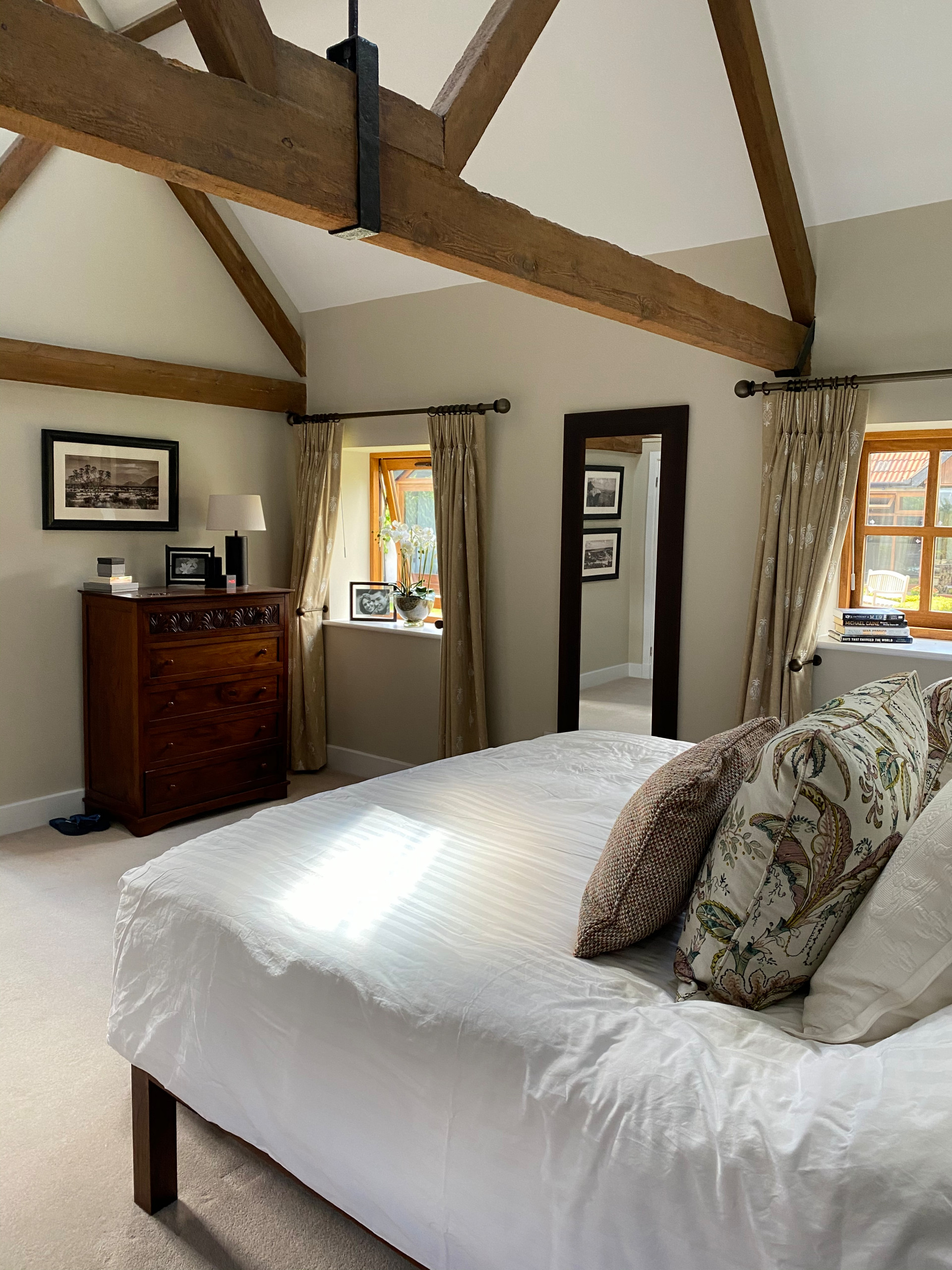 Luxury Colonial inspired Master Bedroom and Bathroom