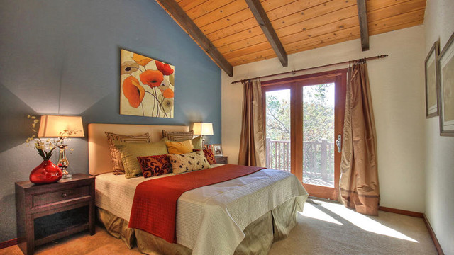 luxury custom home design rustic bedroom