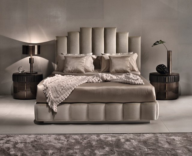 Luxury, feminine bedroom with upholstered bed by Signorini ...