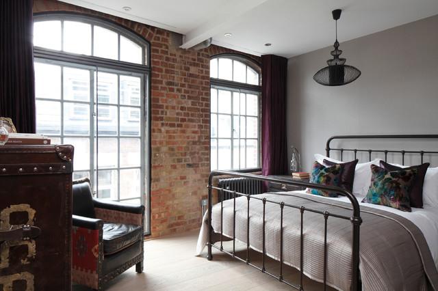 luxury loft apartment bedroom industrial bedroom london by