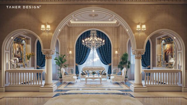 Luxury Mansion Interior Qatar Traditional Bedroom