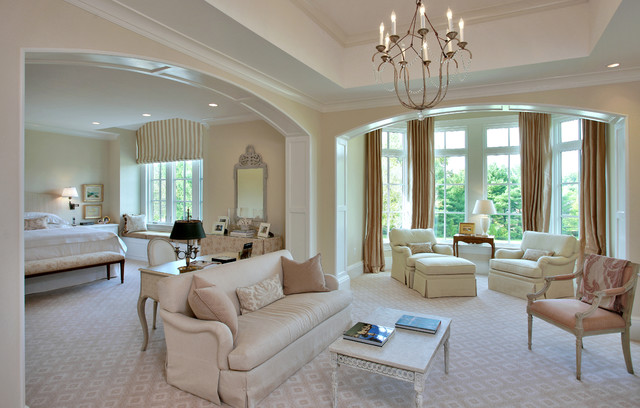 luxury master bedroom by edgemoor custom builders transitional bedroom - Luxury Master Suite