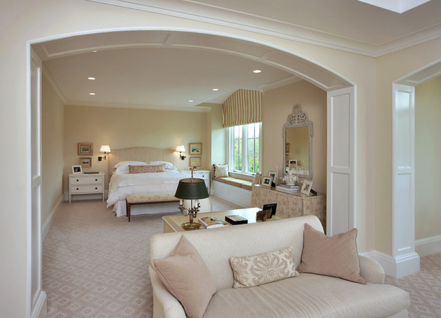 Luxury master bedroom by edgemoor custom builders for Luxurious master bedroom decorating ideas 2012