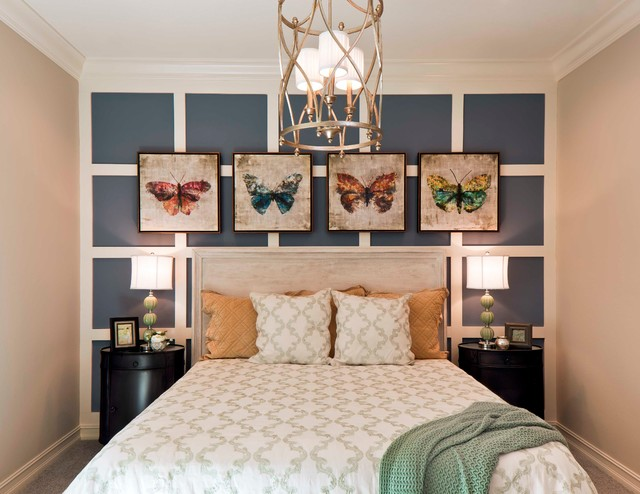 Small Guest Bedroom Ideas Pleasing Luxury Model Home 'the Palmhurst' In Naples Fl  Transitional . Design Ideas