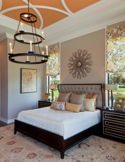 Luxury Model Home, 'The Palmhurst' in Naples FL - Transitional - Bedroom - Miami - by Beasley & Henley Interior Design