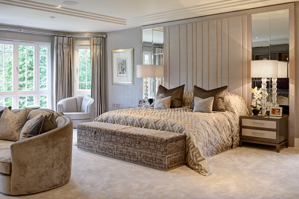 Luxury Modern Home Contemporary Bedroom Surrey By Hill House Interiors