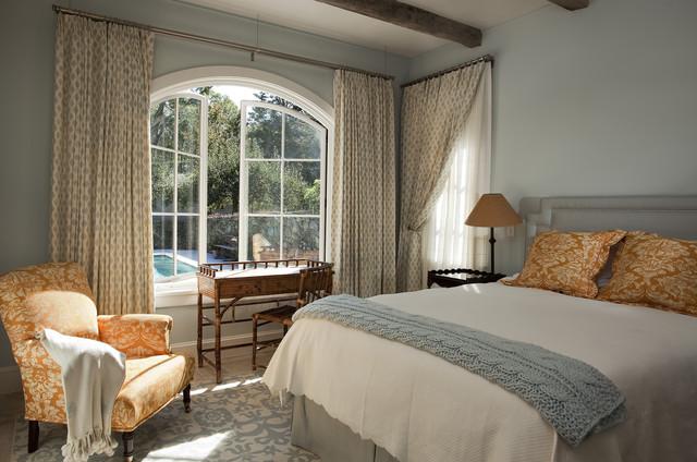Curtains Ideas curtains for casement windows : Lyme Hills - Mediterranean - Bedroom - Bridgeport - by Nautilus ...