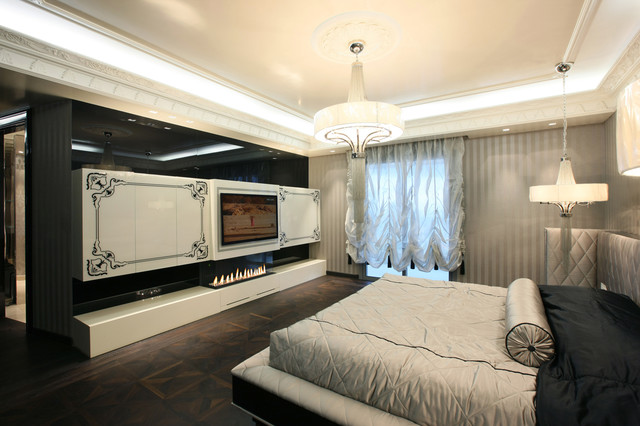 M Penthouse Contemporary Bedroom Other Metro By ADG Interiors