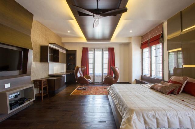 M2 House modern-bedroom