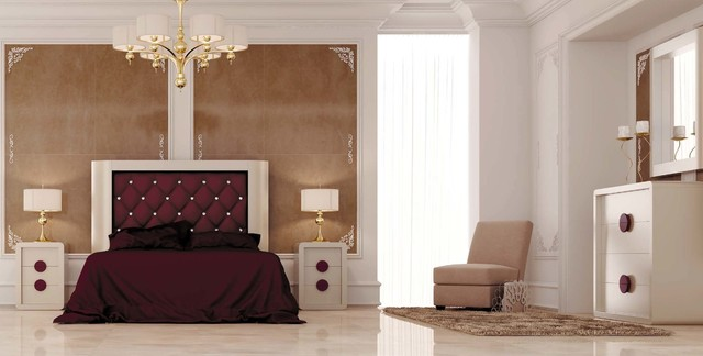 macral design bedroom d01 queen complete bedroom set contemporary bedroom - Full Bedroom Furniture Designs