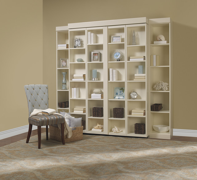 Bookcase Around Bed: Madison Bifold Bookcase Bed