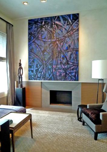 Madison Square Park Apartment contemporary-bedroom