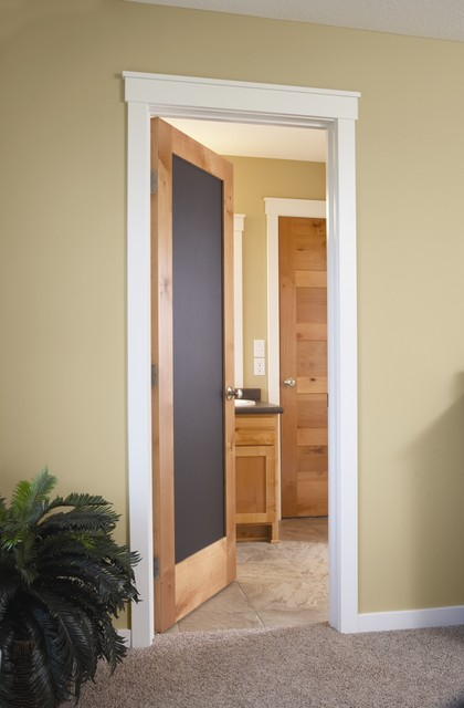 magnetic black chalkboard door  modern  bedroom  minneapolis, Bedroom decor
