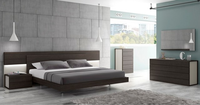 Maia Modern Bedroom Set | Wenge & Light Grey - $6531.44 ...