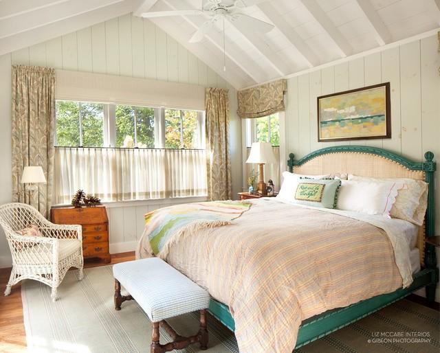 Seal Harbor Maine Farmhouse Bedroom Portland Maine By Liz Mccabe Interior Design