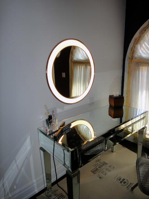 Makeup Vanity Modern Bedroom Chicago By Jgib Interiors