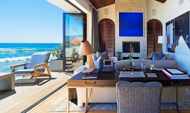 Making a New Start In A Remodeled Beach House - Tropical - Bedroom - los angeles - by Carolyn Reyes