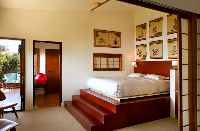 Malibu Architectural asian bedroom