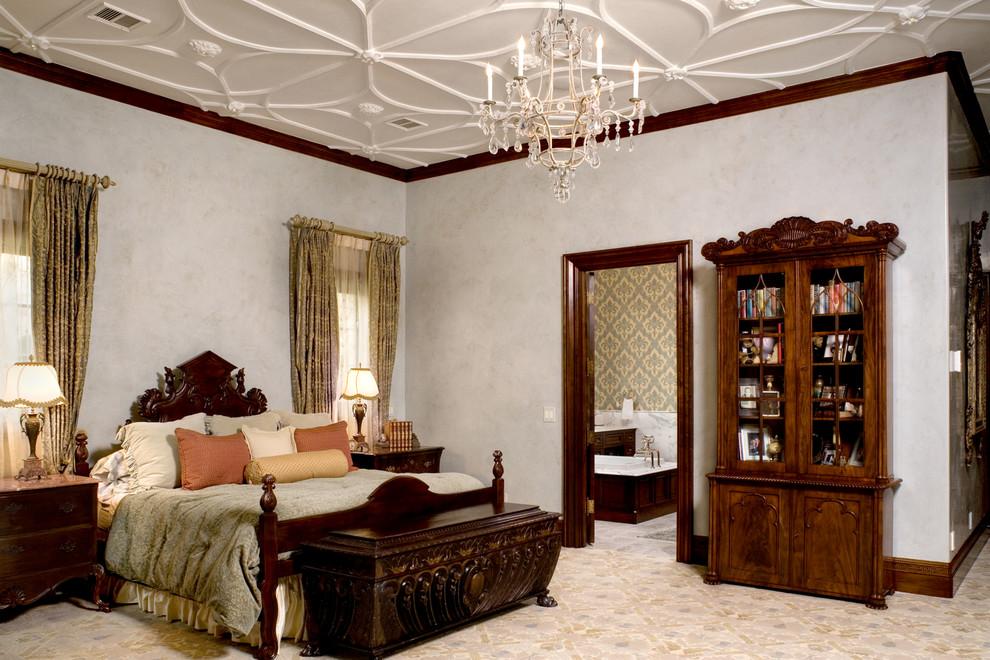 Bedroom - traditional bedroom idea in Austin with beige walls