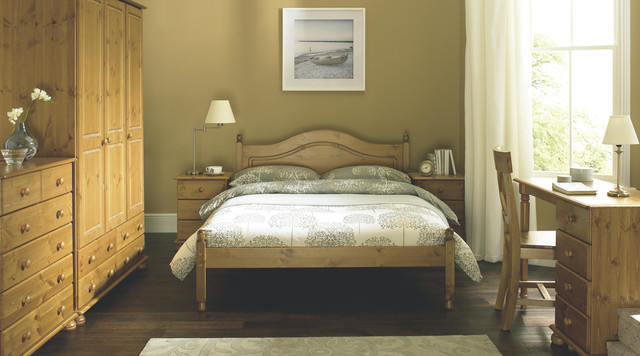 malmo solid scandinavian stained pine free standing bedroom furniture