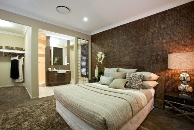 Maluku Coconut Tiles Contemporary Bedroom Hawaii