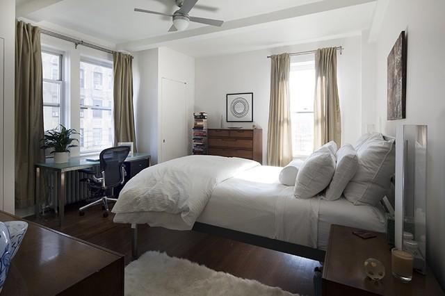 manhattan pre war apartment eclectic bedroom new