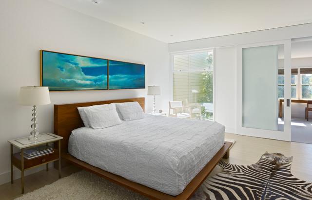 Manzanita residence modern bedroom san francisco - Over the bed art ...