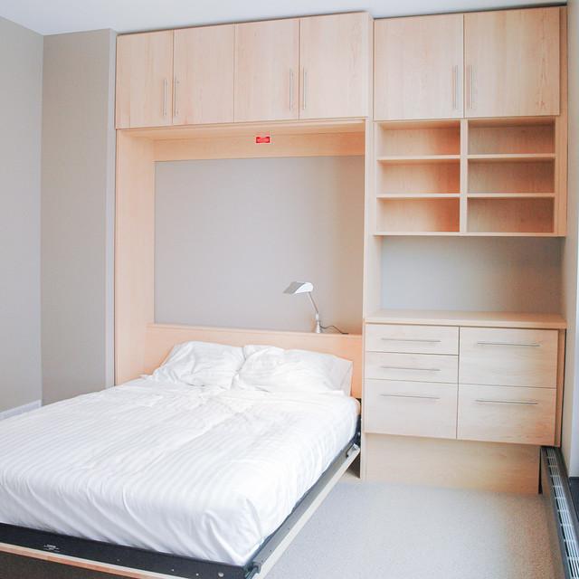 maple murphy bed modern bedroom minneapolis by