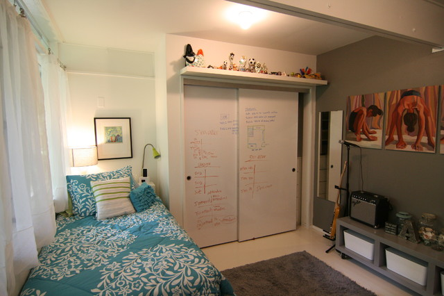 Markerboard Closet Doors Modern Bedroom