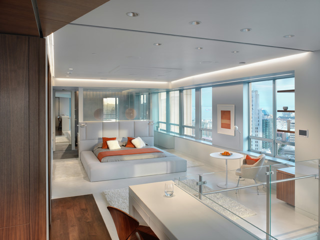 Market street penthouse bed room modern bedroom san - Decoration chambre mansardee adulte ...