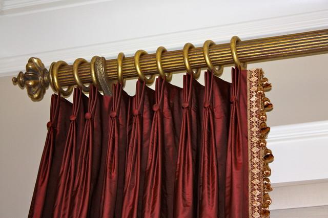 Maroon Taffeta Silk Panels Traditional Bedroom Charlotte. Maroon Curtains For Bedroom   Curtains Design Gallery