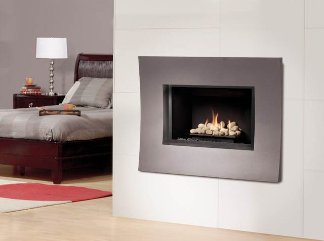 marquis solace gas fireplace modern bedroom
