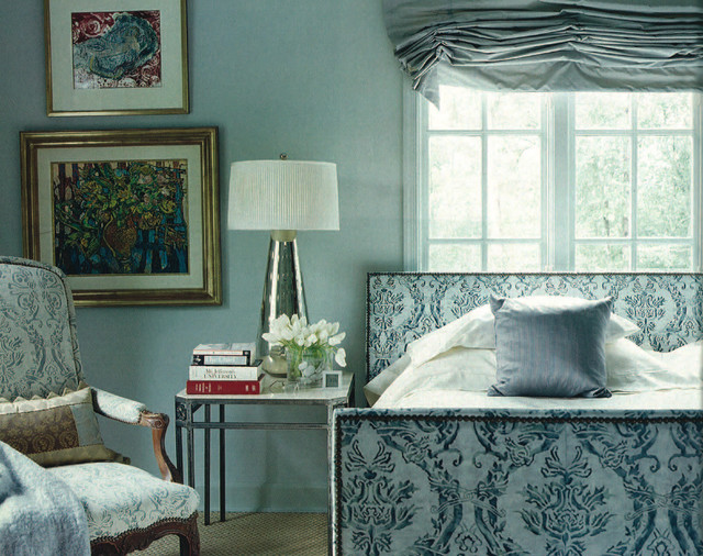 eclectic bedroom by Mary Evelyn Interiors