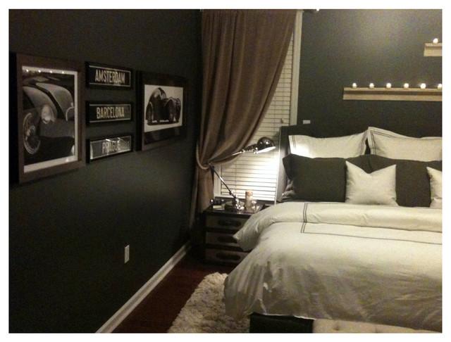 Masculine Bedroom Contemporary Bedroom
