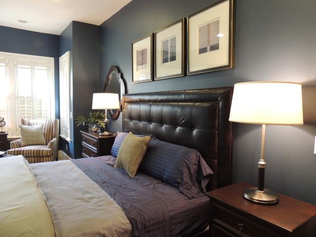 Masculine Modern Bedroom Transitional Bedroom Orlando By Christina Mi