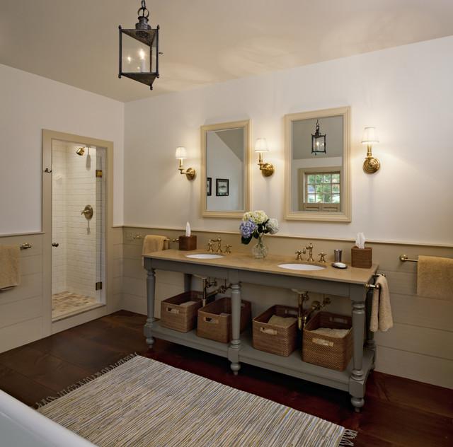 Master bathroom farmhouse bathroom new york by for Master bathroom farmhouse