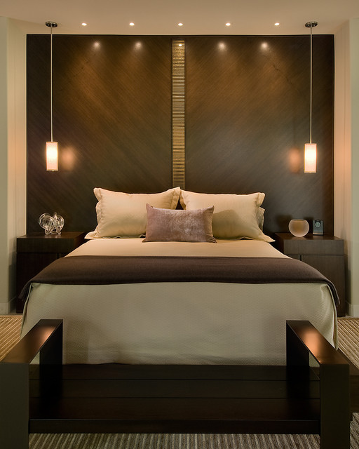 Master bed contemporary bedroom phoenix by angelica henry design Cot design for master bedroom