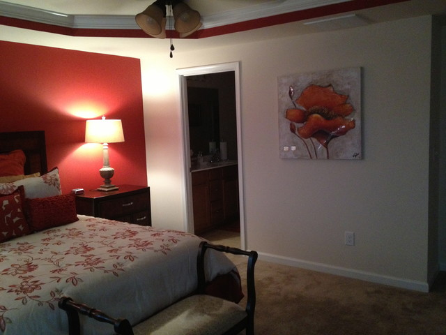 Master Bedroom Accent Wall Traditional Bedroom Raleigh By Specified C