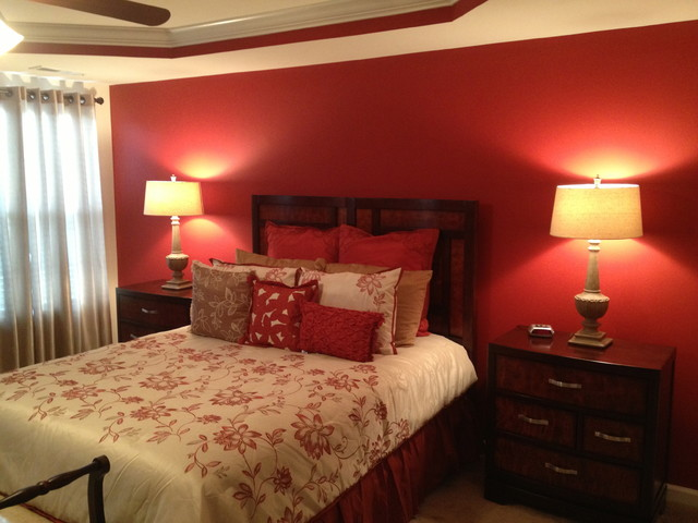 Master Bedroom Accent Wall Traditional Bedroom