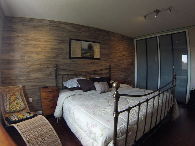 Master bedroom accent wall rustic bedroom toronto by windsol alternative power Master bedroom ideas houzz