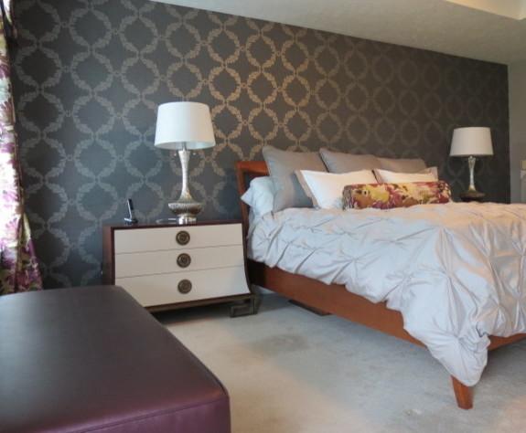 Master bedroom, adding glamour transitional-bedroom