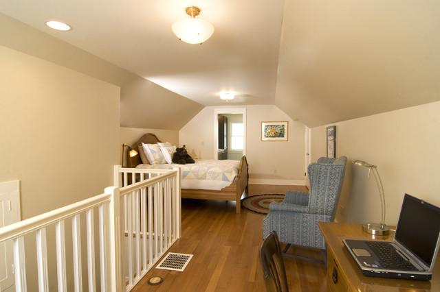 Master bedroom bathroom attic remodel traditional for Attic remodel ideas