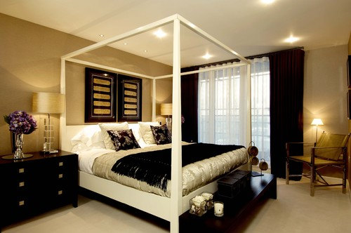 I need some ideas for a black and tan bedroom for Black and beige bedroom ideas