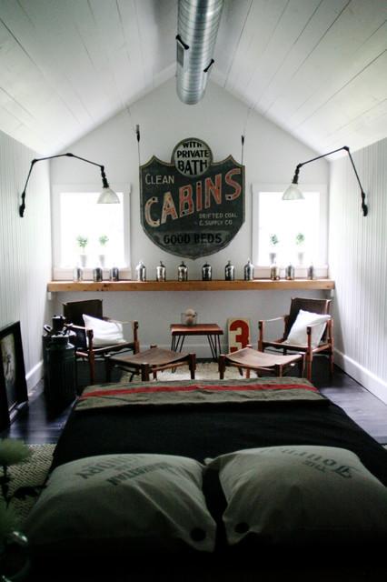 Master bedroom at Summer Haven. rustic-bedroom