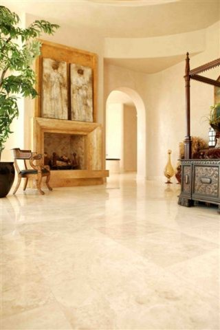 Master Bedroom Authentic Durango Veracruz Tile Flooring mediterranean- bedroom