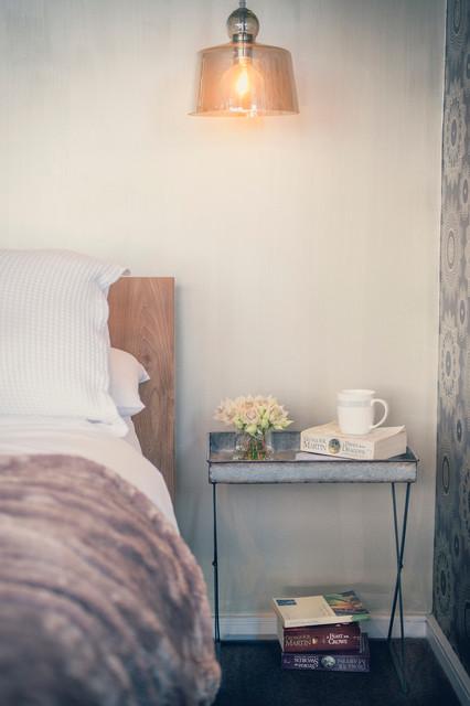 Design ideas for a contemporary bedroom in Toronto.