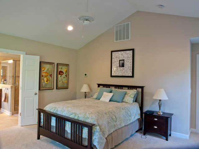 Master Bedroom Bath Garage Addition On 1962 Ranch Traditional Bedroom Raleigh By